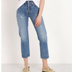 Levi's Wedgie Before Down HighWaits Straight Jeans